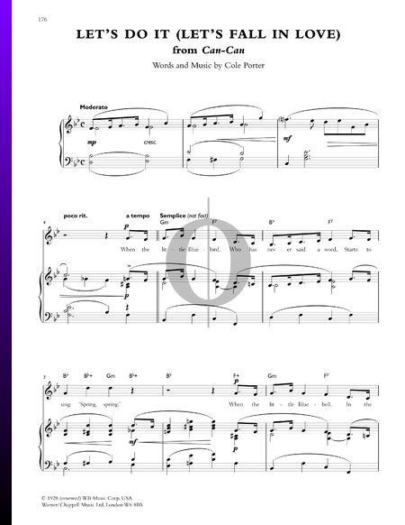 Let's Do It Sheet Music