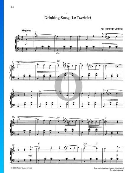 Drinking Song (La Traviata) Sheet Music