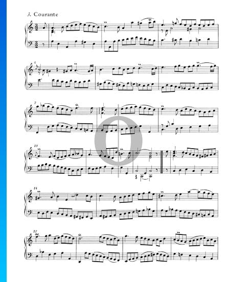English Suite No. 2 A Minor, BWV 807: 3. Courante Sheet Music