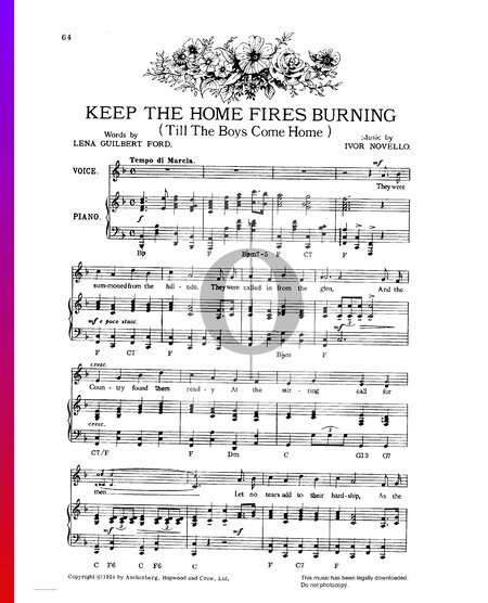 Keep The Home Fires Burning (Till The Boys Come Home) Musik-Noten