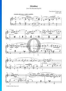 Les Saisons, Op. 37a: 10. Octobre - Chant d'Automne