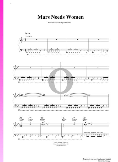 Mars Needs Women Sheet Music