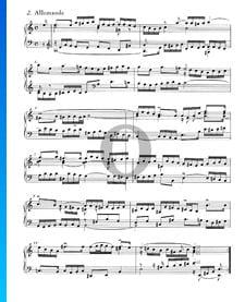 Englische Suite Nr. 2 a-Moll, BWV 807: 2. Allemande