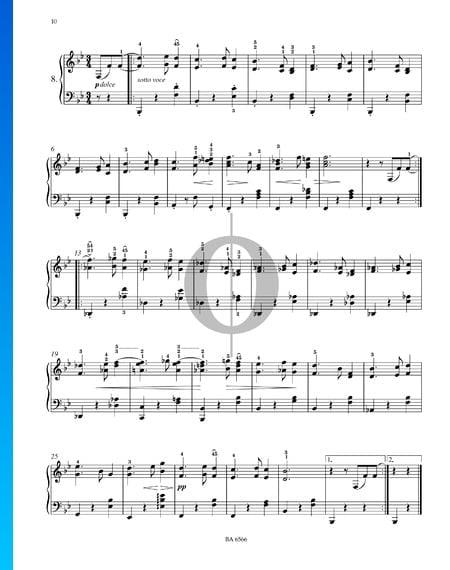Dieciséis valses, Op. 39 n.º 8 Partitura
