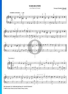 Sarabanda con variaciones en re menor, HWV 437/4