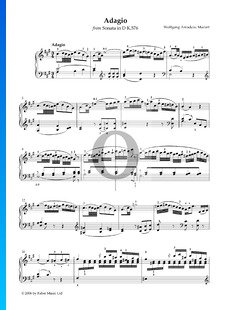 Klaviersonate Nr. 18 D-Dur, KV 576: 2. Adagio