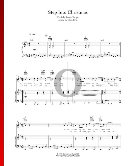 Step Into Christmas Partitura