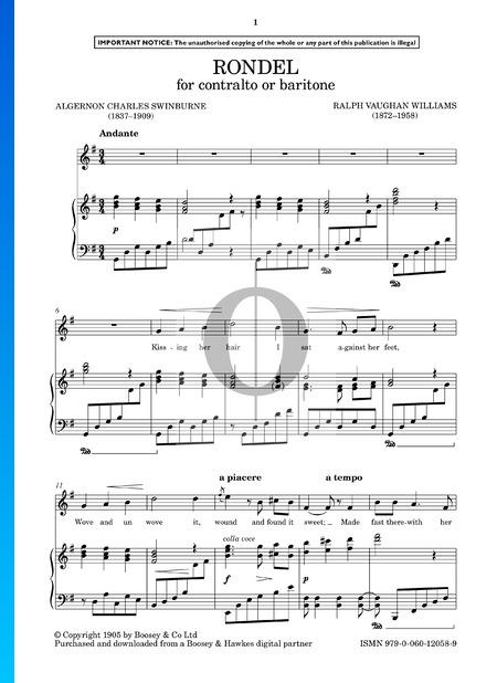 Rondel Sheet Music