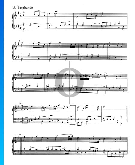 French Suite No. 5 G Major, BWV 816: 3. Sarabande Sheet Music
