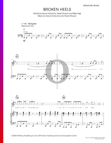 Broken Heels Musik-Noten