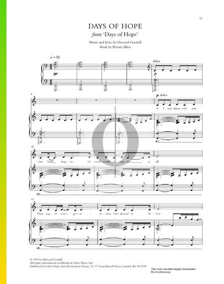 Days Of Hope Sheet Music