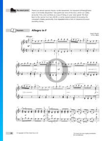 Allegro in F-Dur, Hob. XVII: Anh.