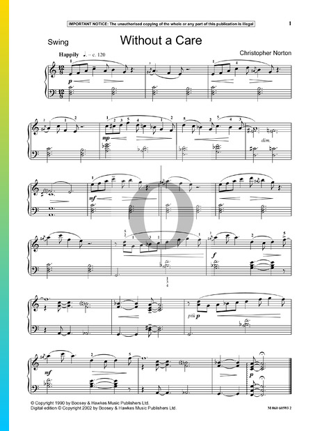 Without A Care Partitura