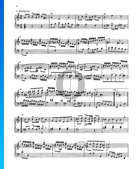 Partita 3, BWV 827: 5. Burlesca Sheet Music