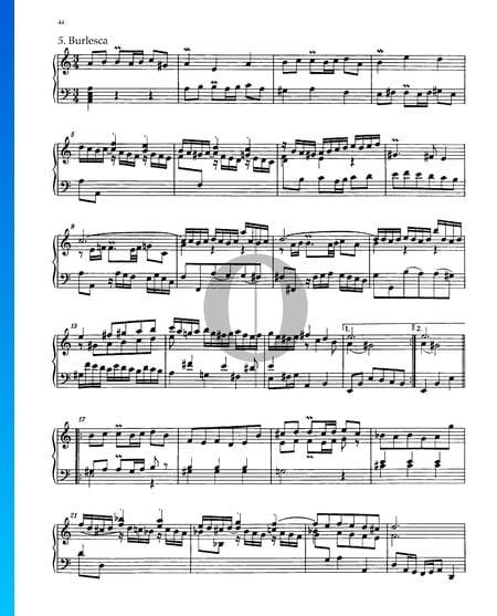 Partita 3, BWV 827: 5. Burlesca Musik-Noten