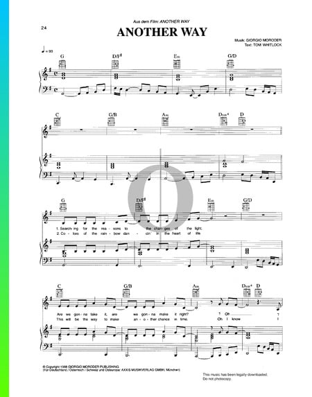 Another Way Sheet Music
