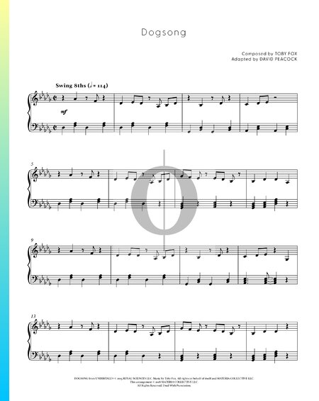 Dogsong Partitura