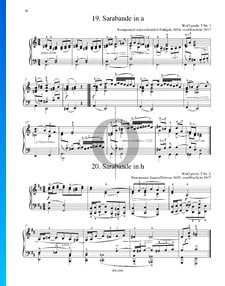 Sarabande en La mineur, WoO posth. 5 No. 1