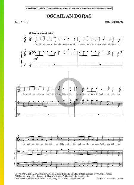 Oscail An Doras Musik-Noten