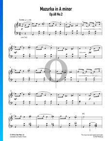 Mazurka en La mineur, Op. 68 No. 2