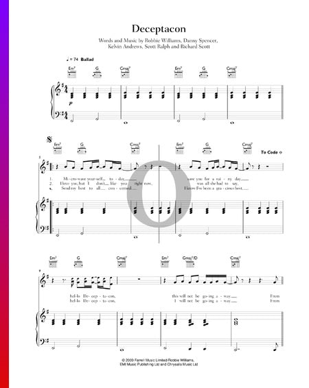 Deceptacon Partitura