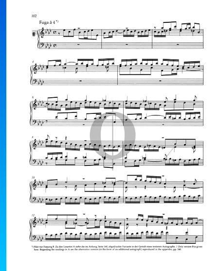 Fuga As-Dur, BWV 886 Musik-Noten