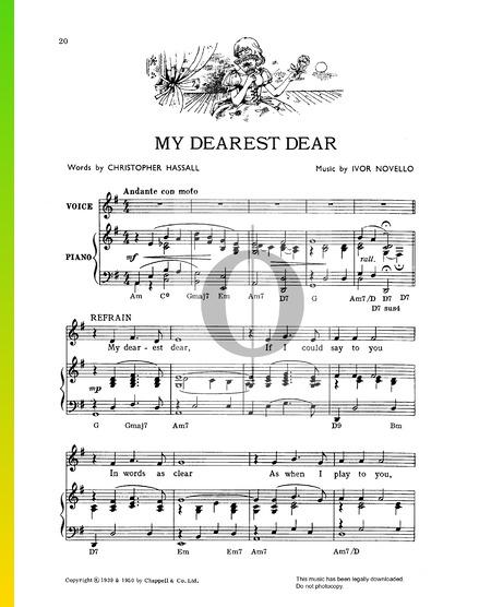 My Dearest Dear Sheet Music