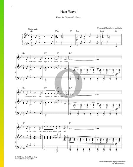Heat Wave Sheet Music