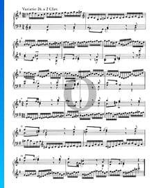 Variaciones Goldberg, BWV 988: Variación 26. a 2 claves