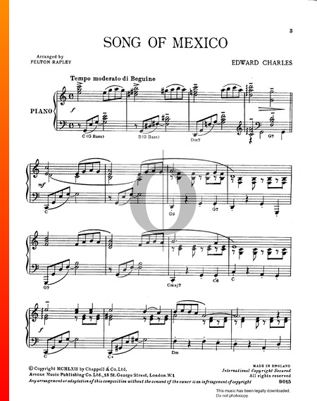 Song Of Mexico Sheet Music