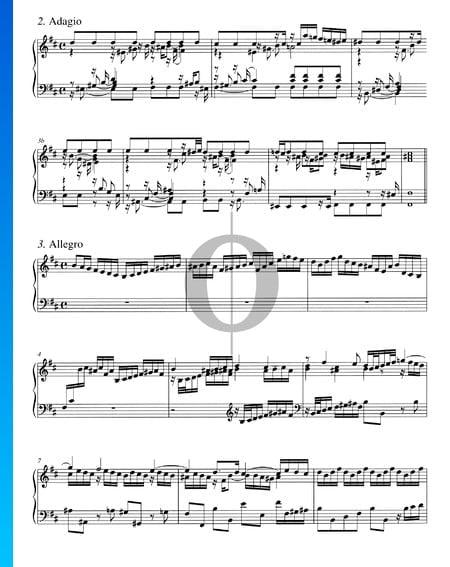 Concerto in h-Moll, BWV 979: 2. Adagio Musik-Noten