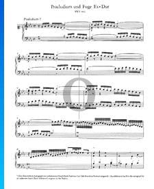 Prelude 7 E-flat Major, BWV 876