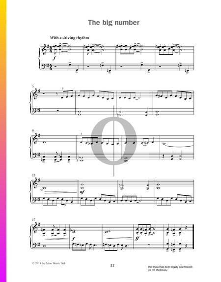 The Big Number Sheet Music