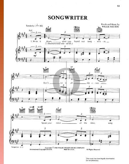 Songwriter Partitura