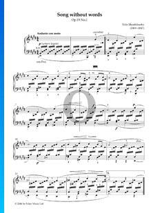 Canción sin palabras, Op. 19 n.º 1
