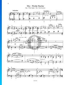 Las estaciones, Op. 37a: 5. Mayo (Iluminado por las estrellas)