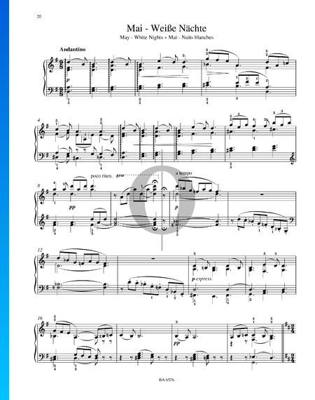 The Seasons, Op. 37a: 5. May - White Nights Sheet Music