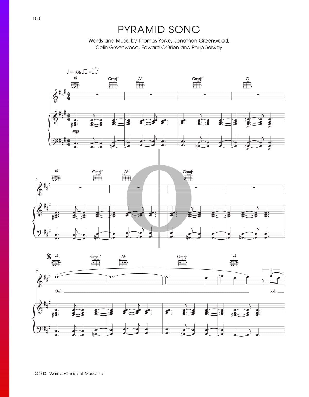 ▷ Pyramid Song Sheet Music (Piano, Voice, Guitar) - PDF