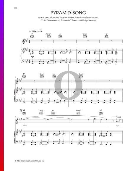 Pyramid Song Sheet Music
