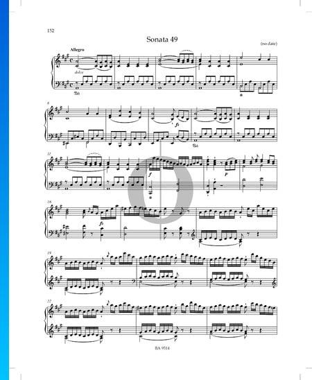 Sonata en la mayor, P. XII: 44: 1. Allegro Partitura