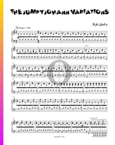 The Jumpy Johann Variations Sheet Music