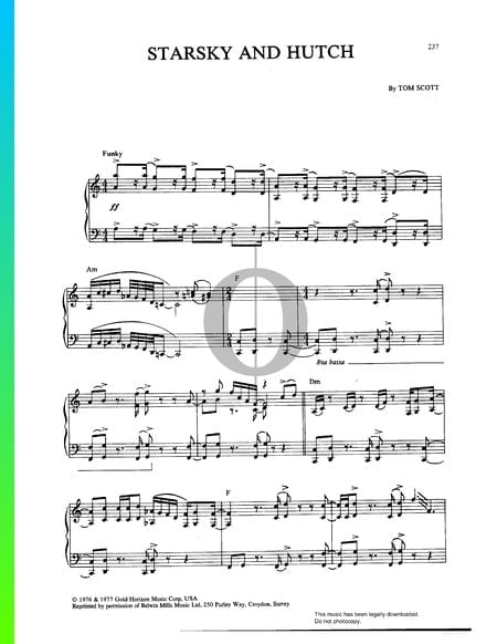 Starsky And Hutch Sheet Music