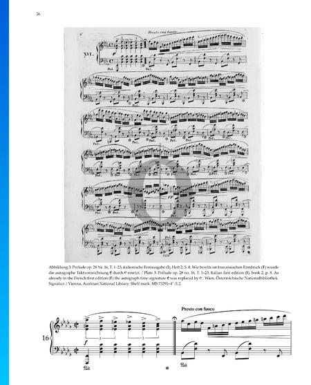 Prélude h-Moll, Op. 28 Nr. 16 Musik-Noten