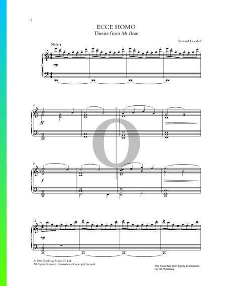 Ecce Homo (Mr. Bean Theme) Sheet Music