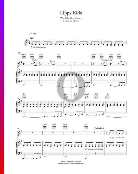 Lippy Kids Musik-Noten