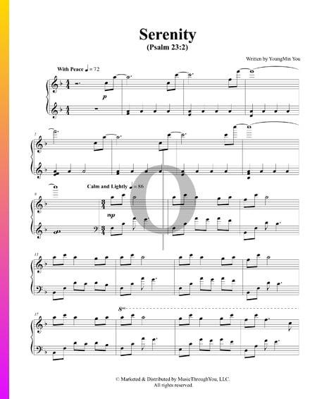 Serenity Sheet Music
