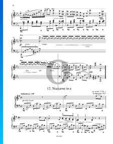 Nocturne en Mi mineur, Op. posth. 72 No. 1