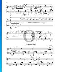 Nocturno en mi menor, Op. posth. 72 n.º 1