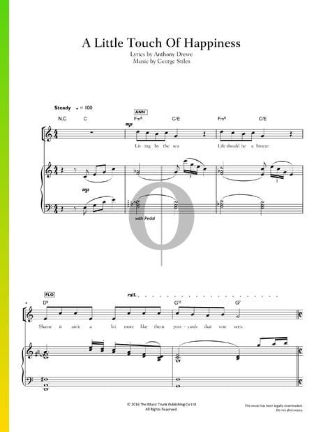 A Little Touch Of Happiness Sheet Music