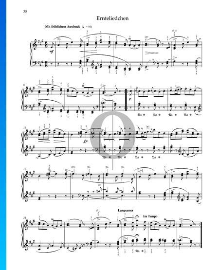 Canción de cosecha, Op. 68 n.º 24 Partitura